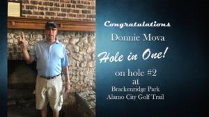 Donnie Mova Alamo City Golf Trail Hole in One
