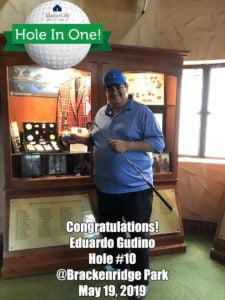 Eduardo Gudino Alamo City Golf Trail Hole in One