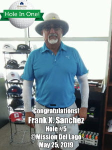 Frank Sanchez Alamo City Golf Trail Hole in One