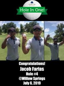 Jacob Farias Alamo City Golf Trail Hole in One