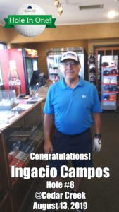 Ignacio Campos Alamo City Golf Trail Hole in One