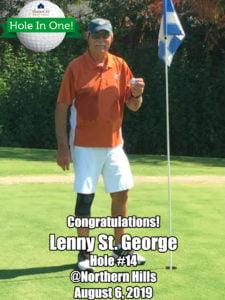 Lenny St. George Alamo City Golf Trail Hole in One