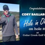 Cory Baillargeon Alamo City Golf Trail Hole in One