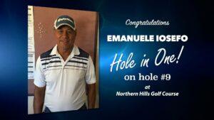Emanuele Iosefo Alamo City Golf Trail Hole in One