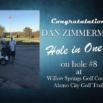 Dan Zimmerman Alamo City Golf Trail Hole in One