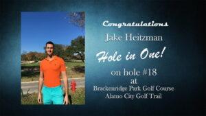 Jake Heitzman Alamo City Golf Trail Hole in One