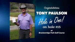 Tony Paulson Alamo City Golf Trail Hole in One