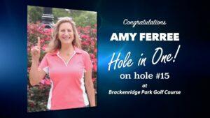 Amy Ferree Alamo City Golf Trail Hole in One