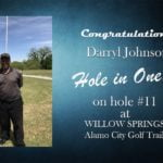 Darryl Johnson Alamo City Golf Trail Hole in One
