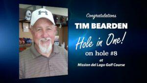 Tim Bearden Alamo City Golf Trail Hole in One