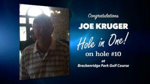 Joe Kruger Alamo City Golf Trail Hole in One