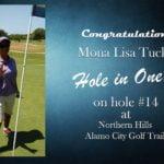 Mona Lisa Tucker Alamo City Golf Trail Hole in One