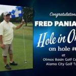 Fred Paniagua Alamo City Golf Trail Hole in One
