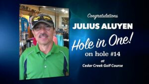 Julius Aluyen Alamo City Golf Trail Hole in One