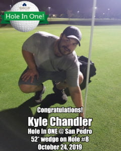 Kyle Chandler Hole in One