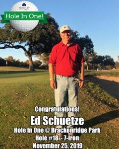 Ed Schuetze Hole In One