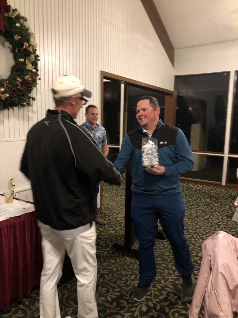 Casey Carnes 2018 Champ passing torch to 2019 Chris Campbell Tour Champion