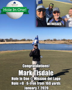 Mark Tisdale Hole In One