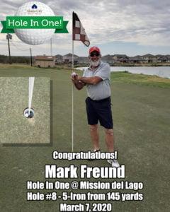 Mark Freund Hole In One